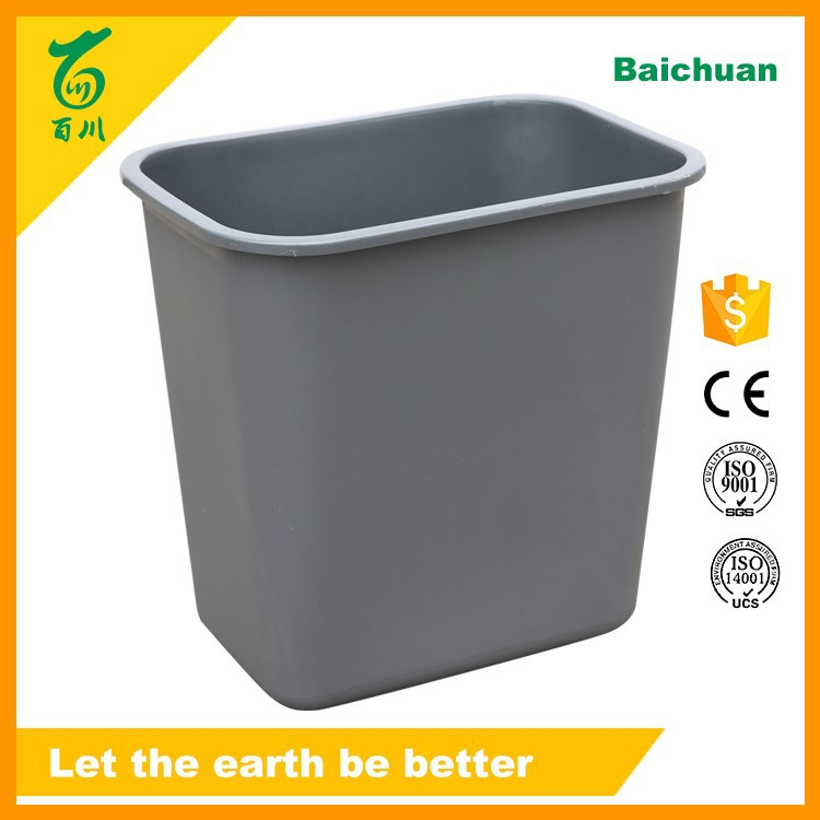 Plastic Small Containers Waste Basket Trash Box 10 Liter Deskside
