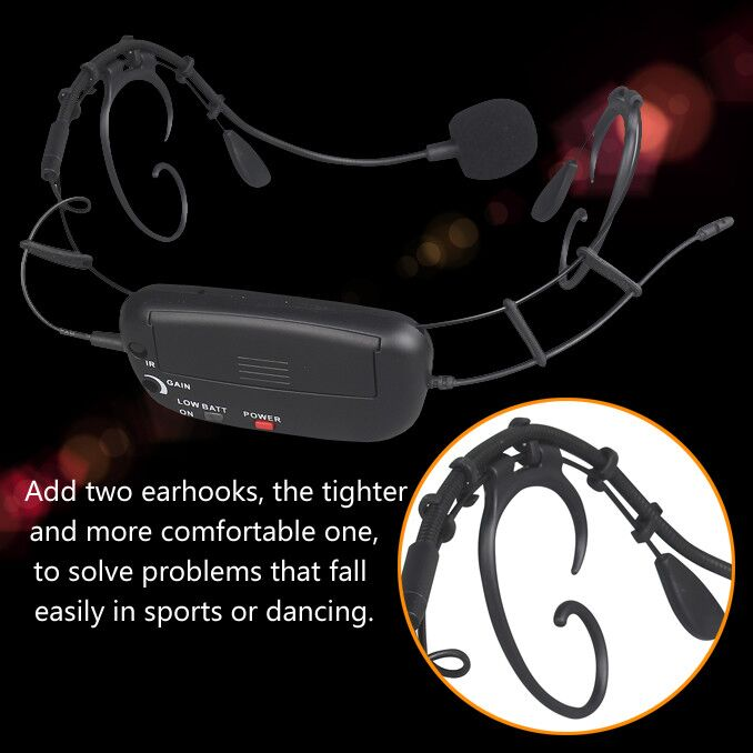 2018 new wireless headset microphones,uhf wireless microphone for church and teaching
