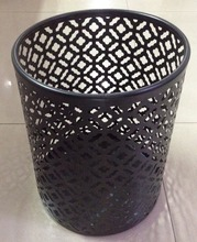 Hotel supply metal wire mesh waste basket