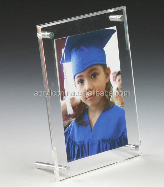 Fixture shopping Displays 4 x 6 Acrylic Photo Holder,graduation picture photo frame