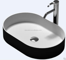 Bathroom Sanitary Ware Artificial Shampoo Above Counter Basin,Solid surface counter luxury wash basin