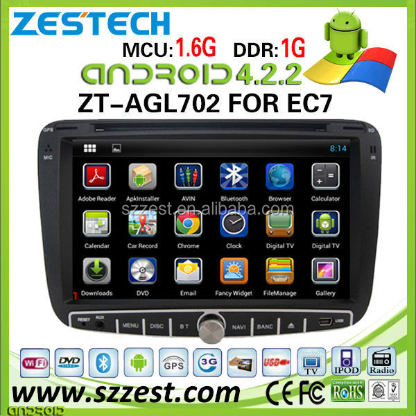 Car accessories android 4.4.4 car dvd player for geely emgrand ec7