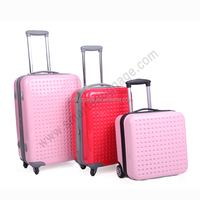 High End Caddy ABS and PC Hard Shell Trolley Luggage Case