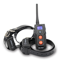 Petrainer waterproof electric anti-bark dog training shock collar for 2 dogs