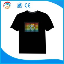 party sound activated led flashing cheap t shirts panel wholesale