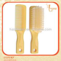 Light yellow baby hair brush and comb set