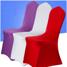 Banquet restaurant party cheap stretch universal decoration spandex wedding chair cover