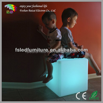 IP67 Waterproof RGB color changing led kids cube chair