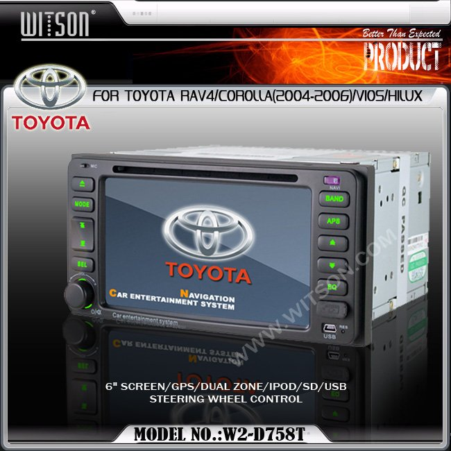 WITSON Special Car DVD Player For TOYOTA RAV4,COROLLA with Built-in GPS For TOYOTA RAV4/COROLLA