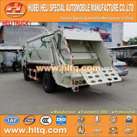 DONGFENG 4x2 garbage compactor truck small 6M3 120hp rear loader with pressing mechanism