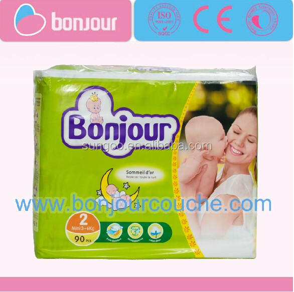 Bonjour baby diaper size from S to L in China