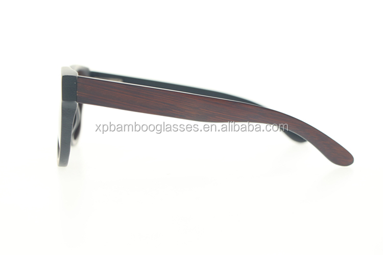 High Quality OEM Customized Logo Vintage Brown Bamboo Sunglasses