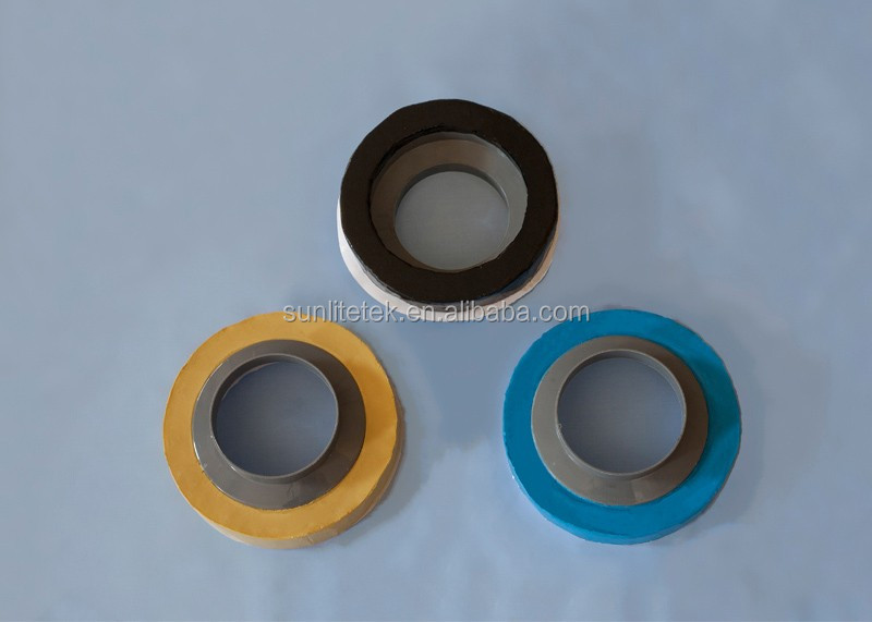 Toilet bowl seal ring gasket with flange