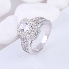 Factory wholesale vintage cascading white zircon engagement women rings