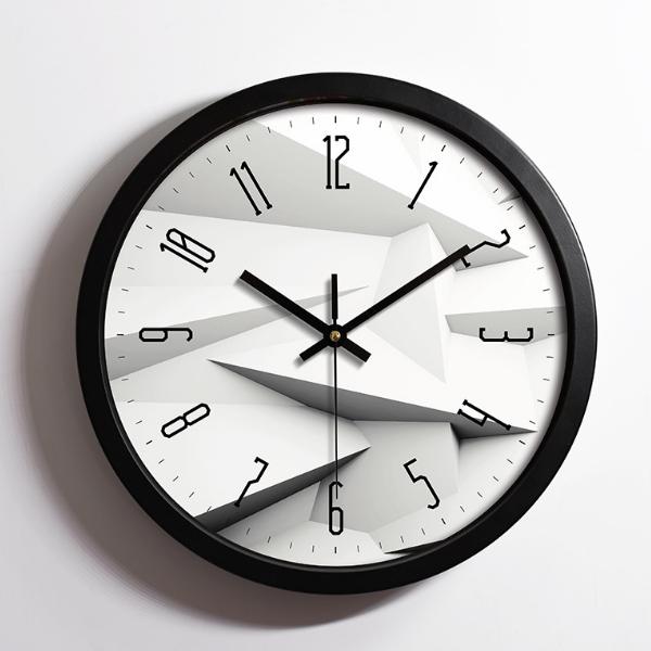 High Quality Logo Printing Round Plastic Wall Clock