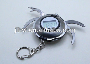 Classics Clock Keychain With Many Kinds of Functions