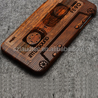 Newest Hard Case for mobile Phones, Special Wooden Pattern Case Back Cover Case with Laser Mark for Cellphones ---Laudtec