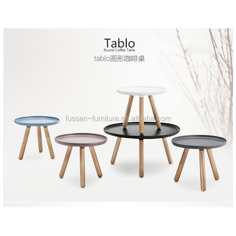 Simple European Style Modern Round Tablo Coffee Table