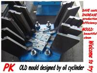 PVC pipe collapsible core fitting mould with mechanism system