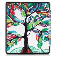 colored drawing pattern auto sleep tpu frame leather tablet case for kindle oasis