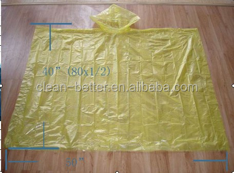 Supply cheap plastic baseball shape disposable rain poncho with logo printing for promotional gift