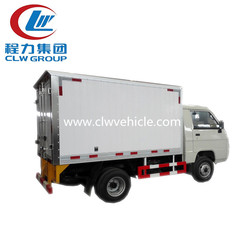 Foton refrigerated truck cold room van truck with big cooling box to frozen food