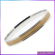 Charm New Design Diamond Dust Round Stainless Steel Bangles