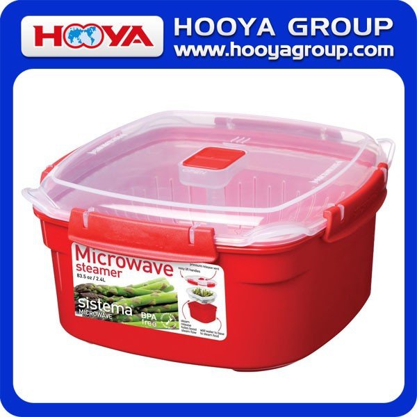 2015 Newest PP Material Medium Microwave Steamer