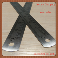 Custom Logo Printed Stainless Steel Rubber Ruler