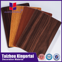 Alucoworld building finishing materials different types of aluminium composite panel acp wall cladding exterior plastic