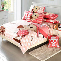 Anime One Piece printed bed sheet designs