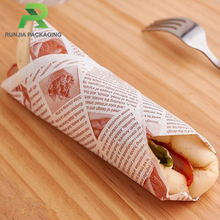 Printed Greaseproof Sandwich Wrapping Paper