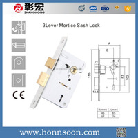 new design 3 lever sash mortise lock for window in china