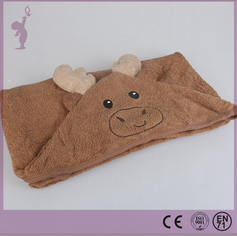 2017 alibaba China supplier animal pattern custom baby hooded bath towel OEM with high quality