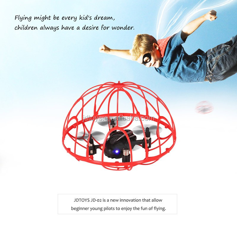 JDTOYS New Drone 2.4G Mini Tumbler Drone Anti-crush 4CH 6-Axis Gyro Headless Mode 3D Flip RC Quadcopter with CE and ROHS