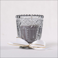 HOT!glass candle with 100% soy wax