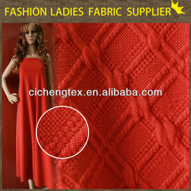 cable knit fabric, NEW FASHION TWO SIDE KNIT JACQUARD FABRIC,jacquard knitting fabric