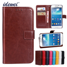 Luxury Flip PU Leather Wallet Mobile phone Cover Case For Samsung Galaxy S4 mini with Card Holder