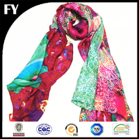 Custom digital printing scarf cotton high demanded product