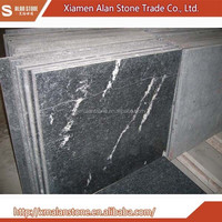 Polished snow black sonw grey granite with white veins tile
