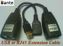 High quality USB To Cat5 / 5e / 6 Extension Cable