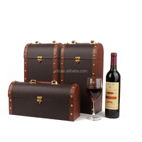 New hot product wine box with leather