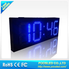 "led digit countdown timer customized 6""~24"" outdoor / led timer clock with remote control"
