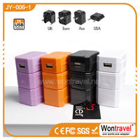 JY-006-1 Low cost and attractive promotional gift, corporate gift item universal travel adapter