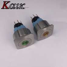Reset Electric Metal Rust Preventive Waterproof Light Push Button Switch