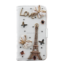 New Products Bling Diamond Wallet Phone Case PU Leather Cover For iPhone 5C