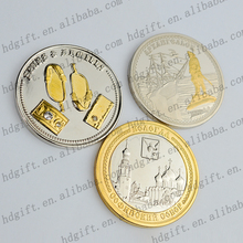 Custom Embossed Castle/Sailor Crystal Metal Token Coins Award Prize