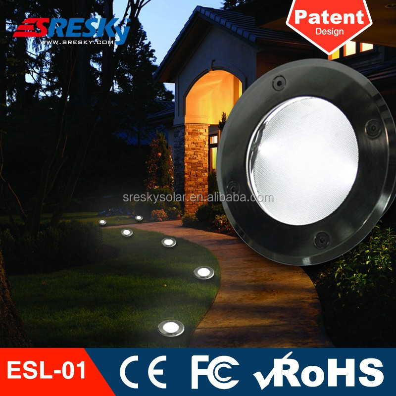 Square Outdoor Waterproof Solar Led Underground Light Ip65 Ce Rohs