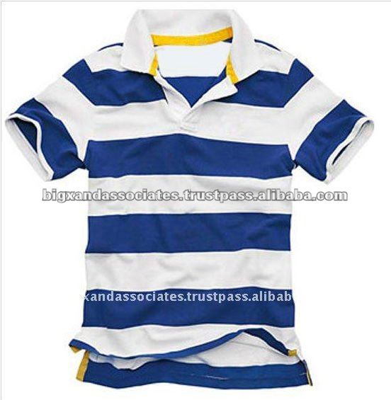 Men's Casual Striped Polo Shirt