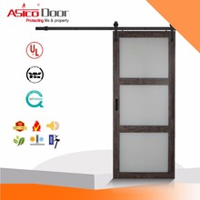 ASICO Modern Style Solid Wood Interior Sliding Mirrored Barn Door